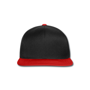 Snapback zwart-rood