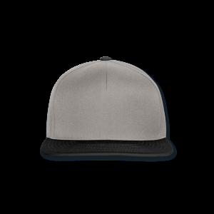 Snapback cap grafietgrijs/zwart