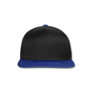 Snapback zwart en koningsblauw